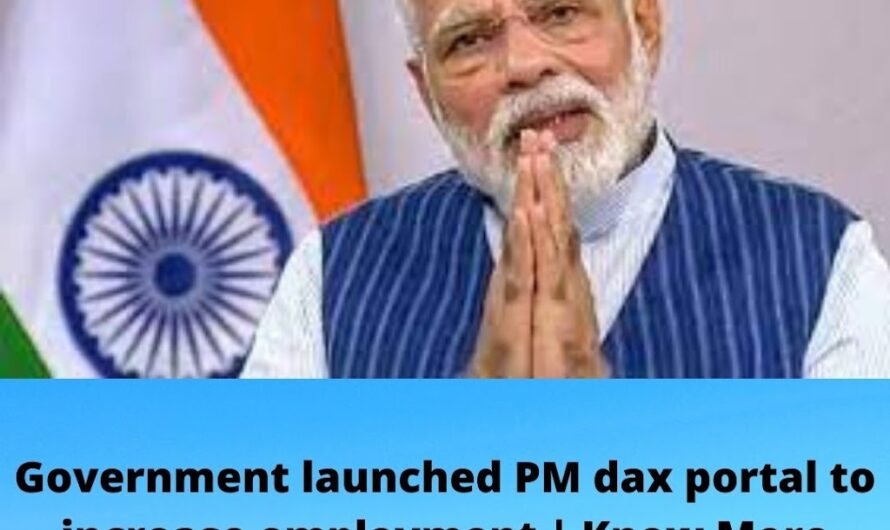 Government launched PM dax portal to increase employment | Know More Details About PM dax portal