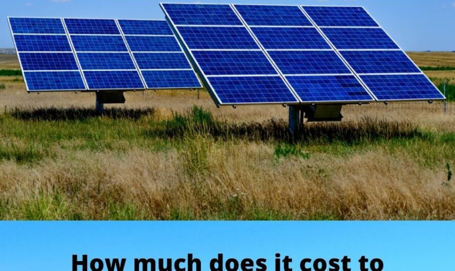 How much does it cost to install solar on the roof of the land ?